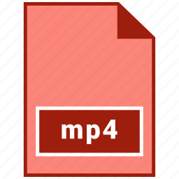 file format, mp4, video icon