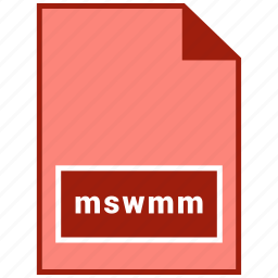 file format, mswmm, video icon