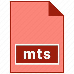 file format, mts, video icon