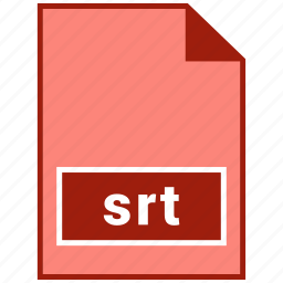 file format, srt, video icon