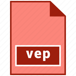 file format, vep, video icon