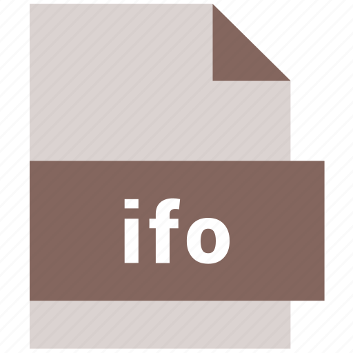 extension, file, format, hovytech, ifo, type, video file format icon