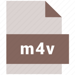 extension, m4v, video, video file format icon