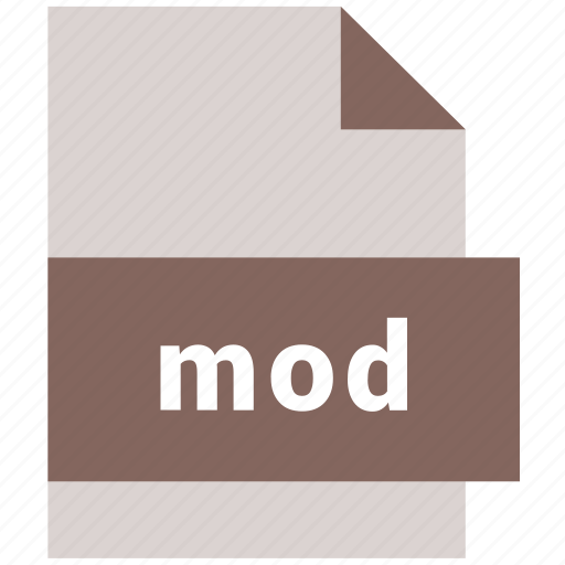 extension, file, format, hovytech, mod, type, video file format icon