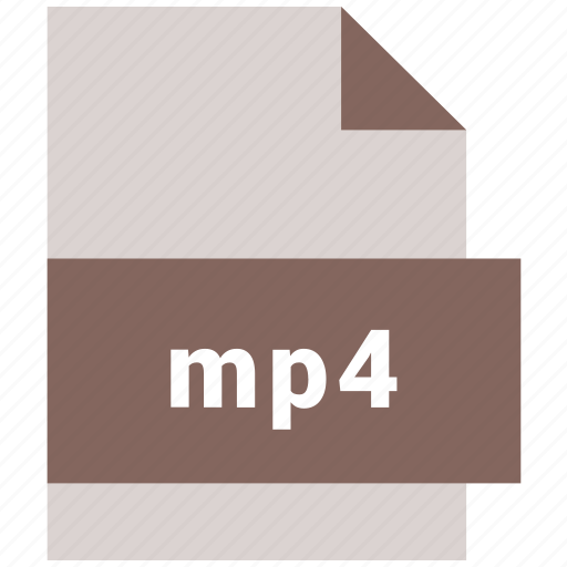 extension, file, mp4, music, video file format icon