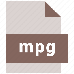 extension, file, file format, mpg, video file format icon