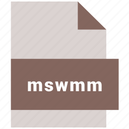 extension, file, format, hovytech, mswmm, video file format icon