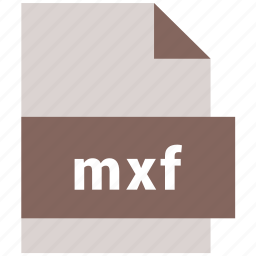 extension, file, format, hovytech, mxf, type, video file format icon