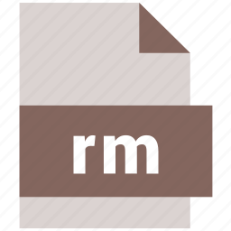 document, rm, video file format icon