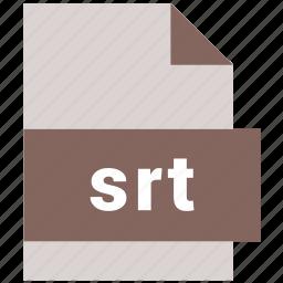 srt, subrip subtitle file, video file format icon