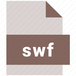 extension, file, file format, swf, video file format icon