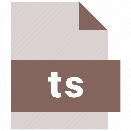 extension, file, format, hovytech, ts, type, video file format icon