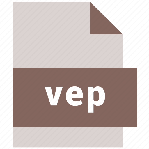 extension, file, format, hovytech, type, vep, video file format icon