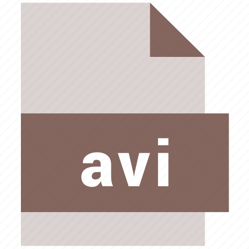 avi, extension, file, file format, video file format icon