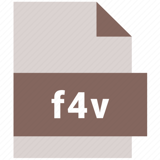 extension, f4v, file, format, hovytech, type, video file format icon