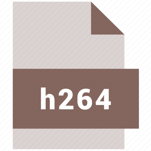 extension, file, format, h264, hovytech, type, video file format icon