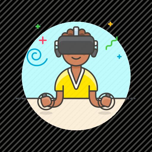 fun, game, play, reality, video, virtual, woman icon