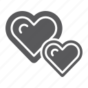 heart, hearts, like, live, love, two, valentine icon