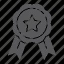 award, badge, best, emblem, medal, quality, ribbon