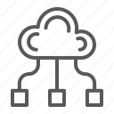 cloud, community, computing, game, team icon