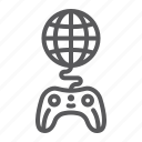 game, gamepad, global, globe, joystick, play, world icon