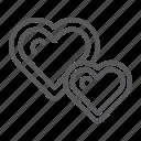 heart, hearts, like, live, love, two, valentine icon
