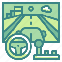 car, electronics, game, racing, technology icon