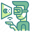 electronics, gaming, multimedia, reality, virtual icon