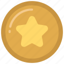star, coin, money, token, gaming, currency