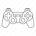 console, game, gaming, joystick, line, outline, video icon