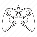 controller, game, joystick, line, outline, play, video icon