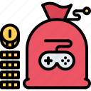 bag, currency, cybersport, game, gamer, gaming, money icon