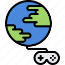 cybersport, game, gamepad, gamer, gaming, online, planet icon