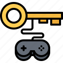cybersport, game, gamepad, gamer, gaming, key, license icon