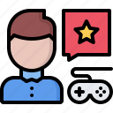 cybersport, feedback, game, gamepad, gamer, gaming, review icon