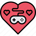 cybersport, game, gamepad, gamer, gaming, heart, love icon