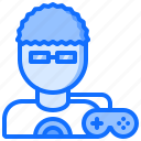 cybersport, game, gamepad, gamer, gaming, glasses, man