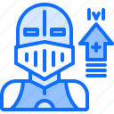 cybersport, game, gamer, gaming, knight, level, up icon