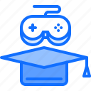 cap, cybersport, game, gamer, gaming, graduate, training icon
