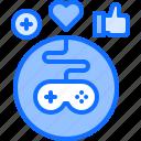 cybersport, feedback, game, gamepad, gamer, gaming, like icon