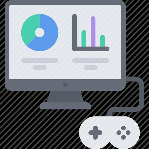 cybersport, game, gamer, gaming, graph, metric, statistics icon
