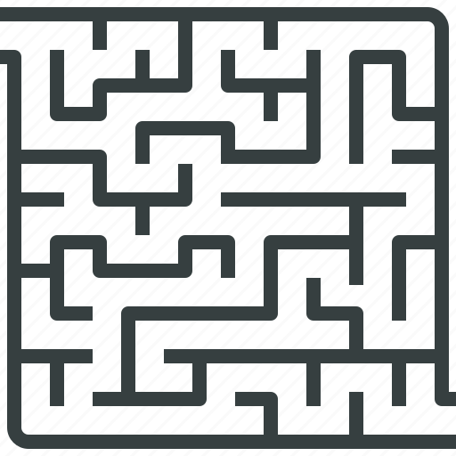 casual, complex, game, maze, puzzle, quest, solution icon