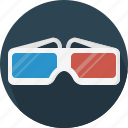 cinema, glasses, lens icon