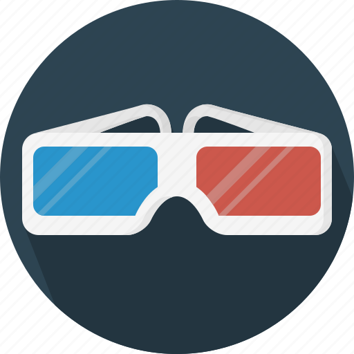 cinema, glasses, lens icon
