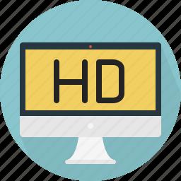 computer, hd, monitor icon