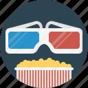 popcorn, movie, cinema