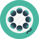 film, movie, roll, video icon