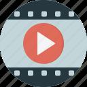 film, play, video