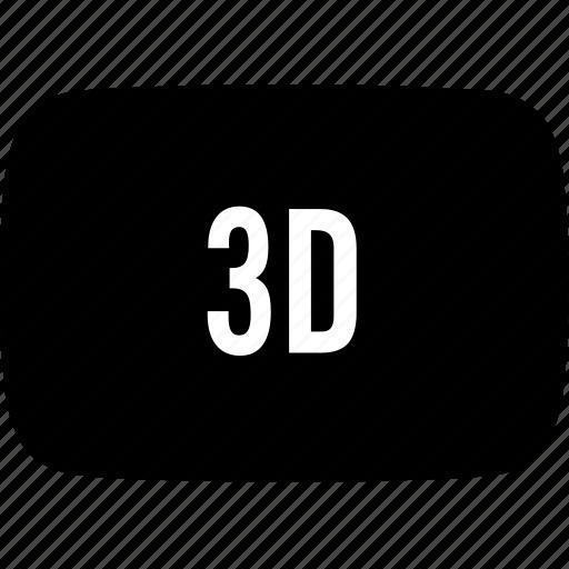 three-dimensional icon
