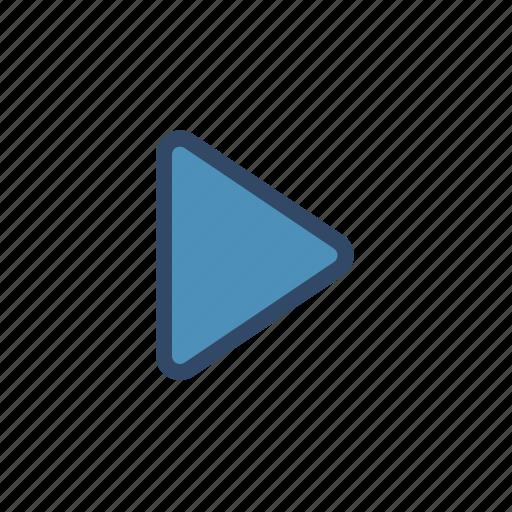 film, movie, multimedia, play, player icon